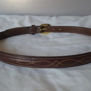toby Accessories - Toby brown leather belt - size 28